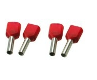 Twin draadhuls geisoleerd rood 2x1,0 mm